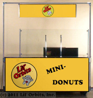 Lil' Orbits F60-12DDF Downdraft Ventilation Cart for SS1200 Mini Donut Machine