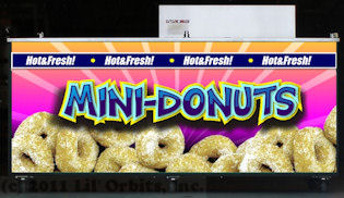 Example of Mini-Donut wrap applied to FSC-12DDF Vendor Cart