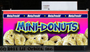 Example Mini-Donut wrap applied to our FSC-12DDF Vendor Cart
