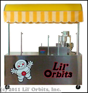 Lil' Orbits FSC-12DDF Downdraft Ventilation Cart for SS1200 Mini Donut Machine