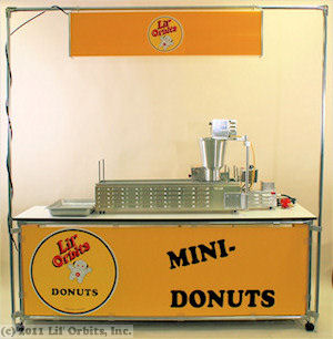 Lil' Orbits Gas-Fired mini donut machine package #5